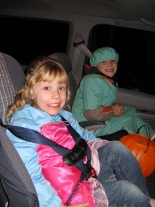 Adrianna and Dayton trick or treating 2009