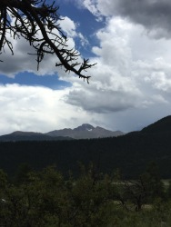 View of Longs Peak from our Campsite